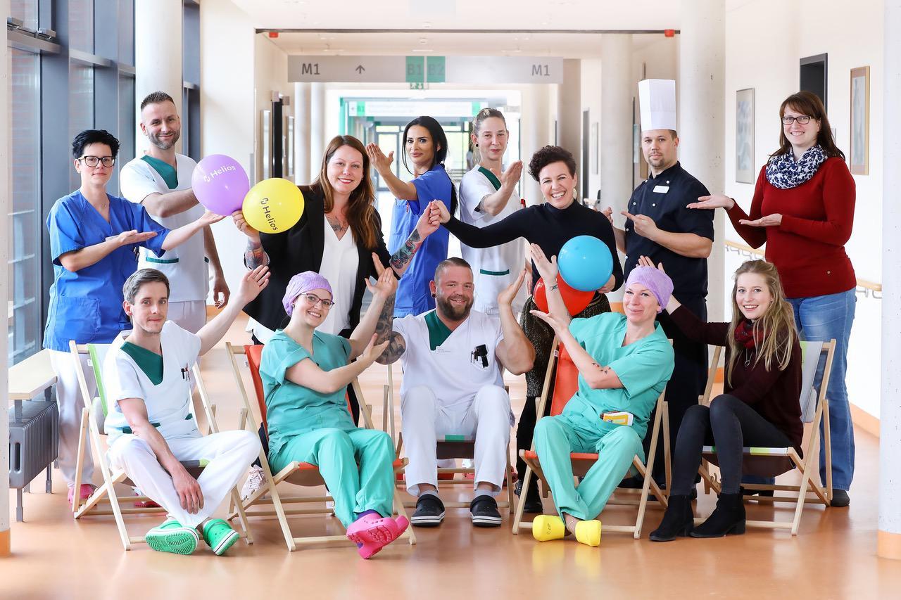 Wohlfühlbeauftragte als Zeichen der Mitarbeiter- Wertschätzung im Helios Klinikum