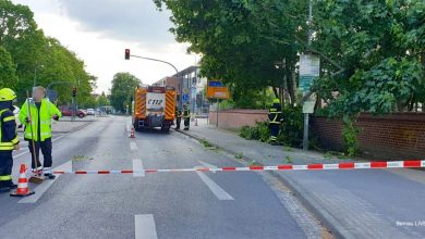 Verkehrshinweis: Einsatz der Feuerwehr an der Europakreuzung