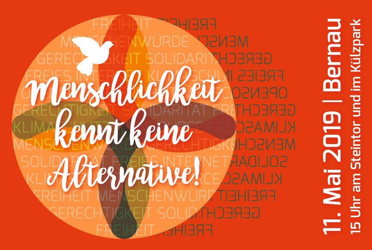 Menschlichkeit kennt keine Alternative - Familienfest am Samstag in Bernau