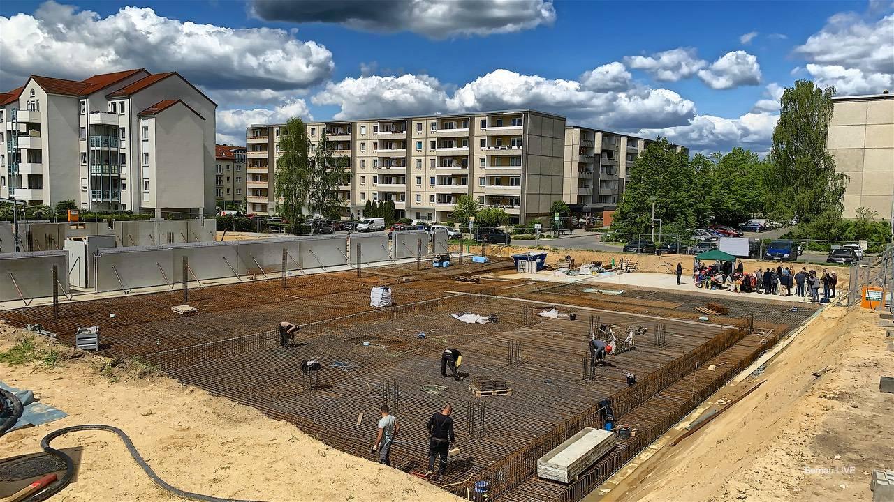 WOBAU: Grundsteinlegung für 70 neue Wohnungen in Bernau Süd