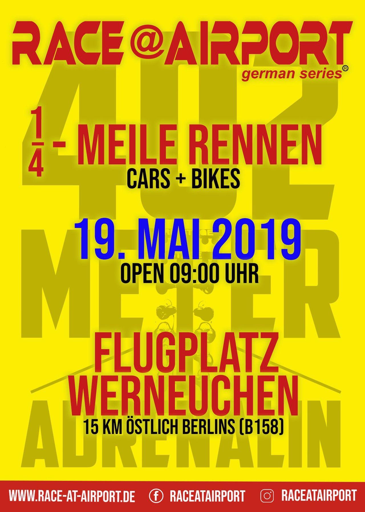 Race @ Airport Werneuchen am 19. Mai - Wir haben Freikarten für Euch!