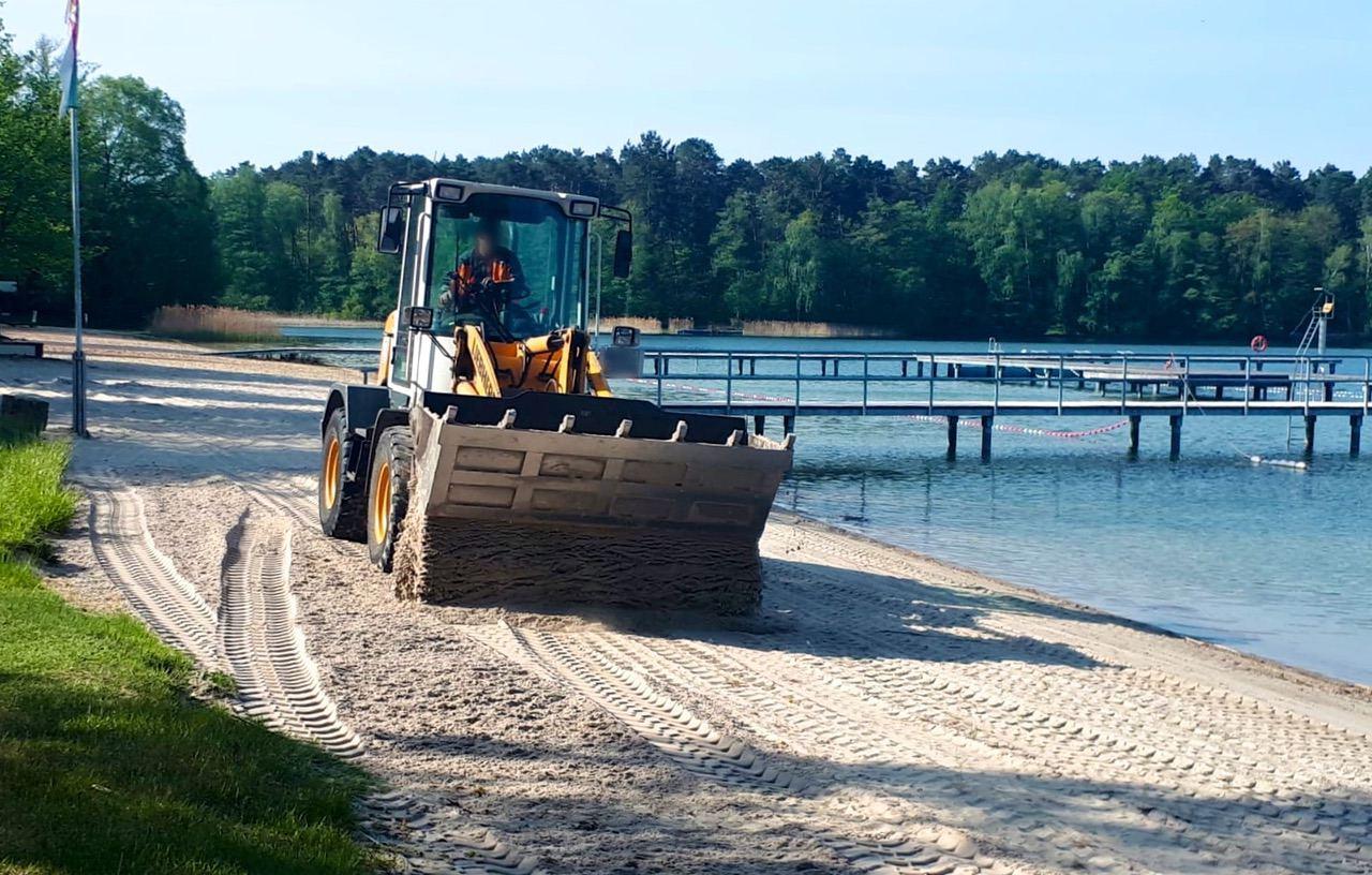 Biesenthal: 200 Tonnen feinster Sand für das Strandbad Wukensee