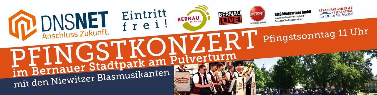 Großes Pfingstkonzert im Stadtpark von Bernau
