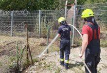 Feuerwehr Bernau: Flächenbrand nahe der Schwanebecker Chaussee