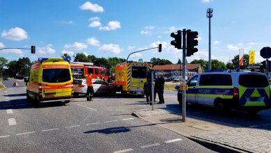 Verkehrsunfall in Bernau mit Beteiligung eines RTW