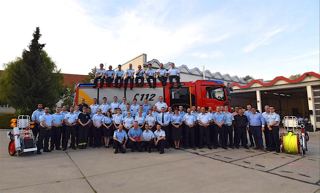 Fahrzeugübergabe LF 20 Feuerwehr Bernau Florian
