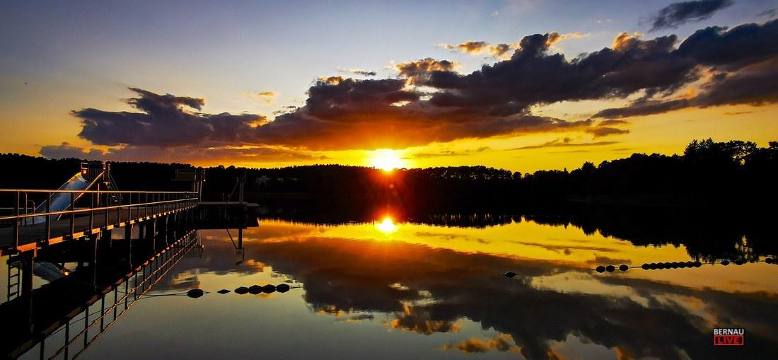 Sommer Sonnenuntergang Wukensee Bernau LIVE 0000