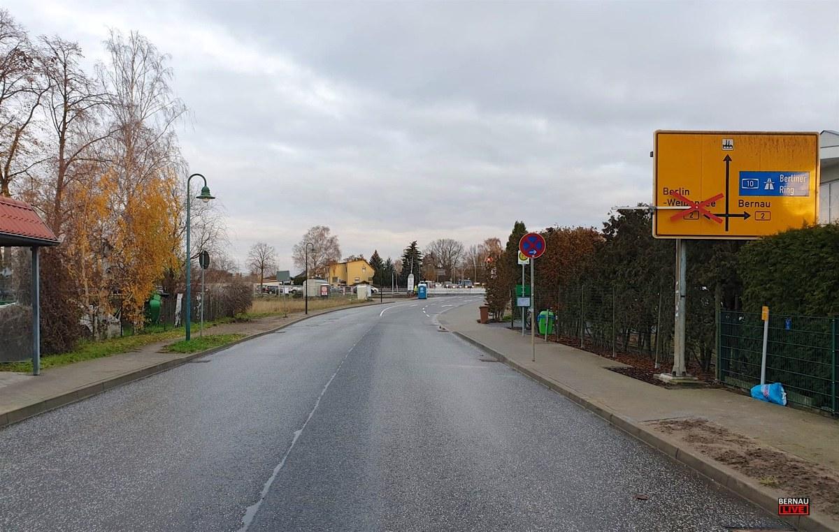 Ahrensfelde Lindenberg Baustelle B2 Bernau LIVE 0002