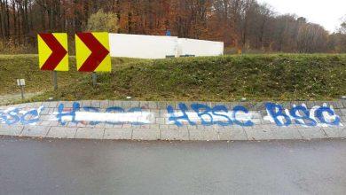 Photo of Bernau – Wandlitz: Sinnlose Schmierereien an der Mittelinsel B273/L304