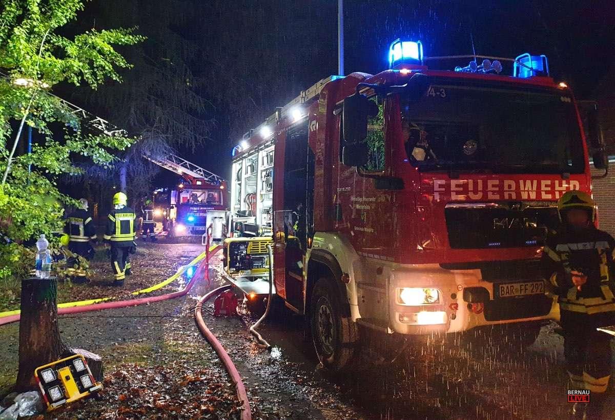 Feuerwehreinsatz Klosterfelde Bernau LIVE0000