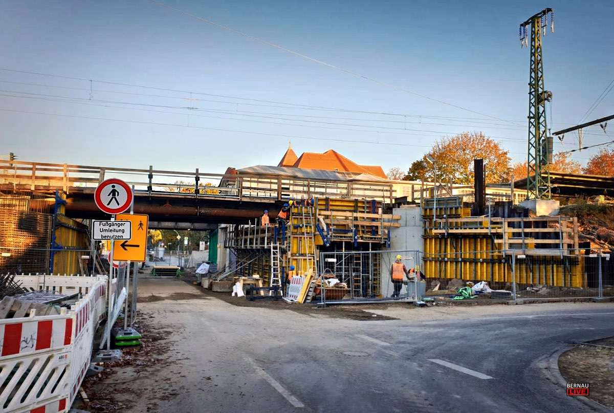 PuR Bauarbeiten Bahnhof Zepernick Bernau LIVE0000