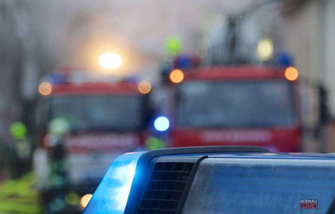 Polizei Feuerwehr 13.01. Bernau LIVE