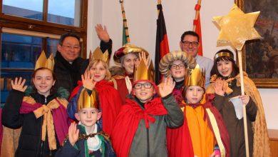 Photo of Sternsinger der Kirchengemeinde Herz Jesu zu Gast im Bernauer Rathaus
