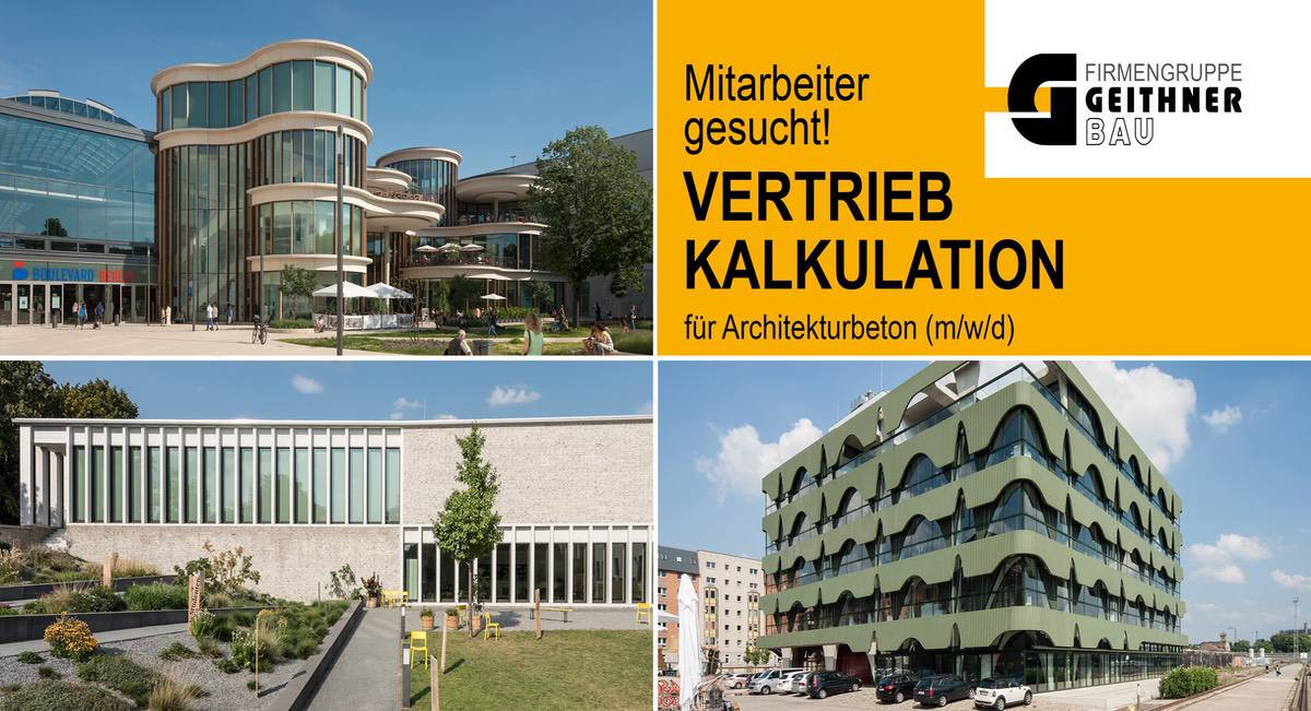 Stellenangebot Geithner Bau Architekturbeton Bernau LIVE