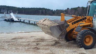 Photo of Biesenthal: 330 Tonnen feinster Sand für das Strandbad Wukensee