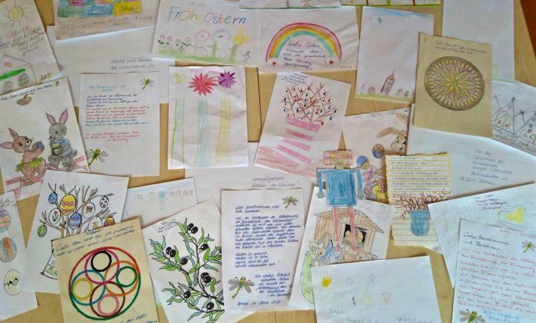 Photo of Bunte Ostergrüße von Kita-Kindern für Bernauer Pflegeheime