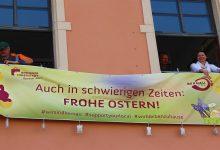 Photo of Banner der Stadt Bernau bei Berlin wünschen 30 Mal Frohe Ostern