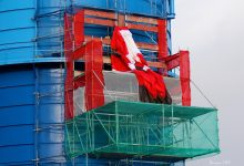 Weihnachtsmann am Gaskessel Bernau