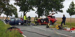 Schrecklicher Verkehrsunfall zwischen Birkholzaue und Blumberg
